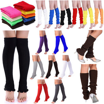 High Socks For Women Stocking Cover Shoes Boot Heel 80S Leg Knitted Legging - Leg Warmers 80s