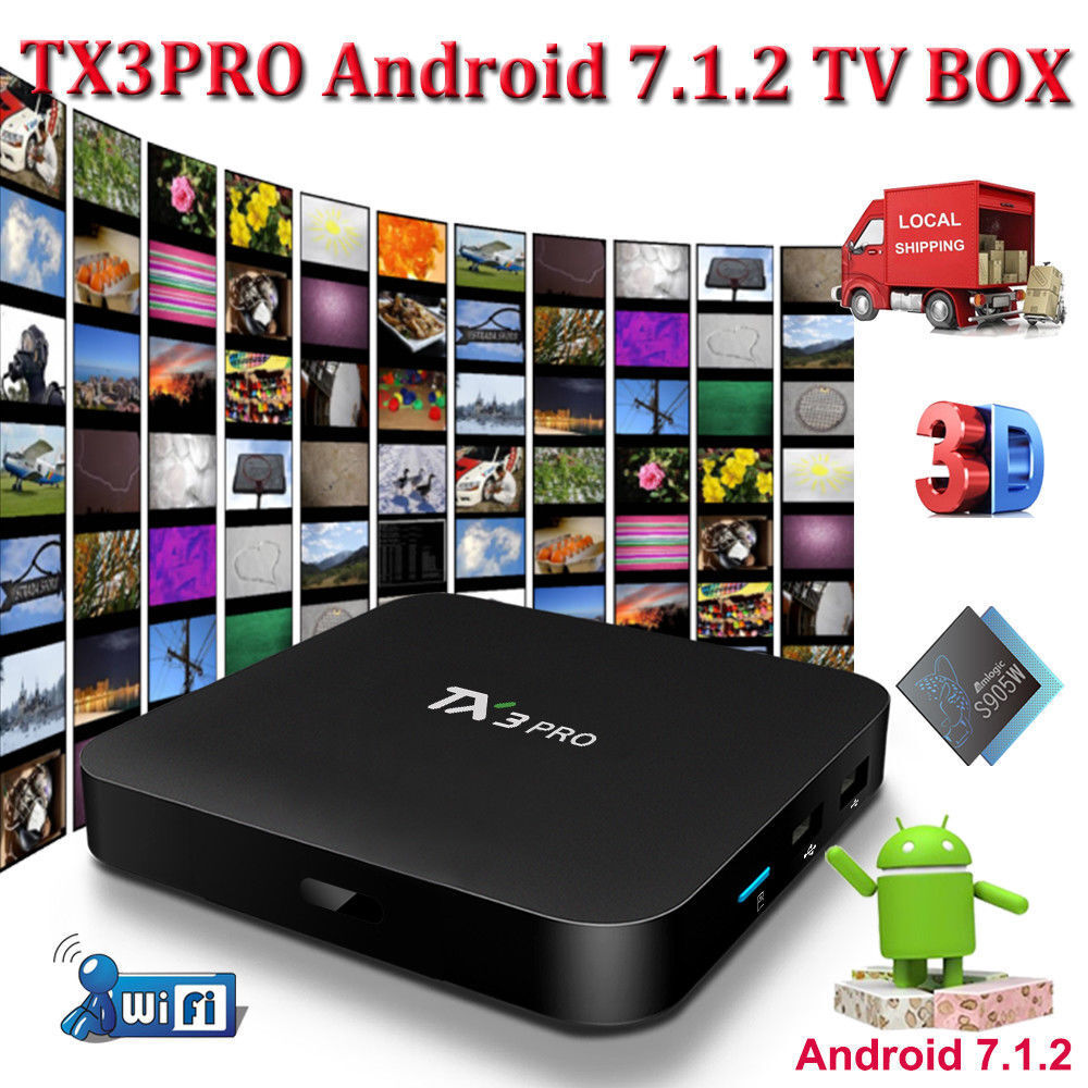 2019 TX3PRO S905W ANDROID 7.1.2 Nougat Smart TV BOX WIFI 4K Media Player MINI PC
