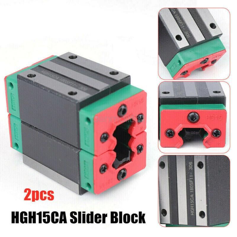 HGH15CA 2Pack Linear Guide Rail Block Slider Carriage Block Guideway Bearing