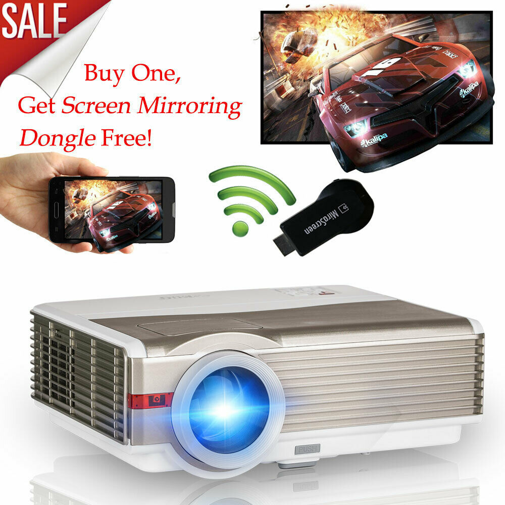 8000lms HD Projector Home Theater With WiFi Dongle Wireless