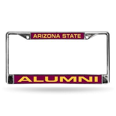 Arizona State Sun Devils NCAA Alumni Chrome Metal Laser Cut License Plate Frame Devils Ncaa Chrome License Plate
