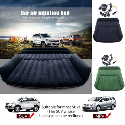 Kissen Weiche Matratze (Auto SUV Luftmatratze für Camping Weiches Bett Sitzkissen Matratze mit Pumpe DE)
