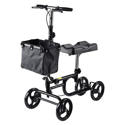 Height Adjustable Knee Walker Steerable Medical Leg Scooter