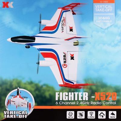 XK X520 2.4G 6CH 3D/6G Airplane VTOL Vertical Takeoff Land Delta Wing Drone F2V2