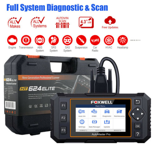 OBD2 Scanner Auto ABS SRS Check Engine EPB Oil Reset All System Diagnostic Tool