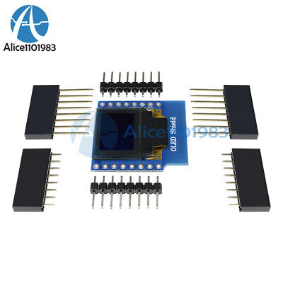 Oled Shield For Wemos D1 Mini 0.66 Inch 64x48 Iic I2c For Arduino Compatible