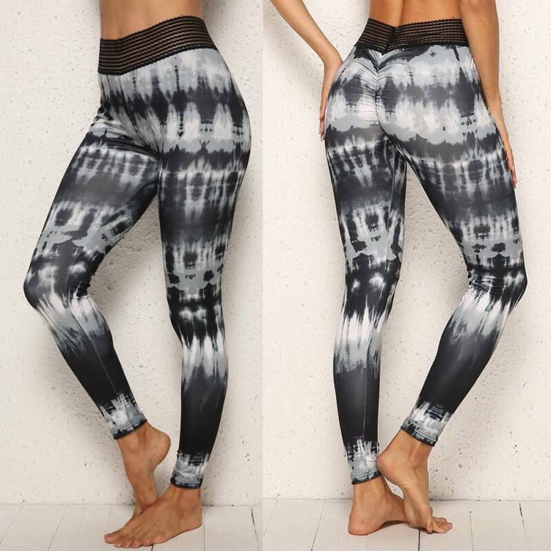 Sport Womens Compression Fitness Leggings Running Yoga Gym Pants Workout US M972