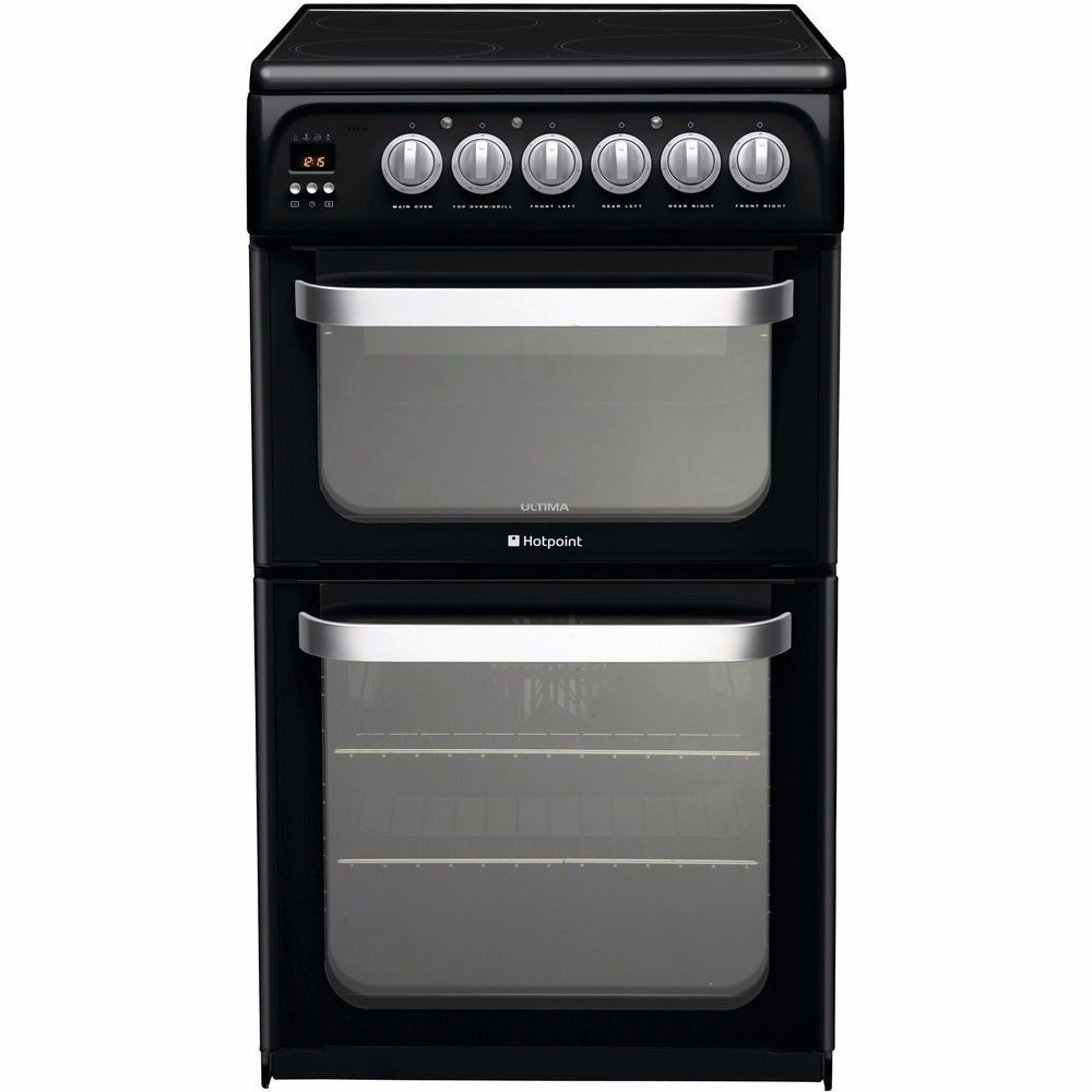 BRAND NEW HOTPOINT 50 CM WIDE CERAMIC TOPPED DOUBLE OVEN REF: 31420
