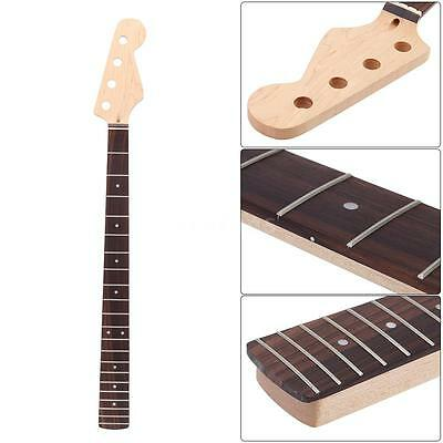 21 Fret 4 String Bass Maple Neck Rosewood Fingerboard For Jazz Replacement T1p1