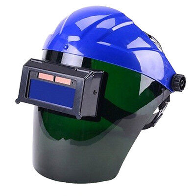 Blue Solar Auto Darkening Welding Helmet Semi-open Solar Face Shield Solder Mask