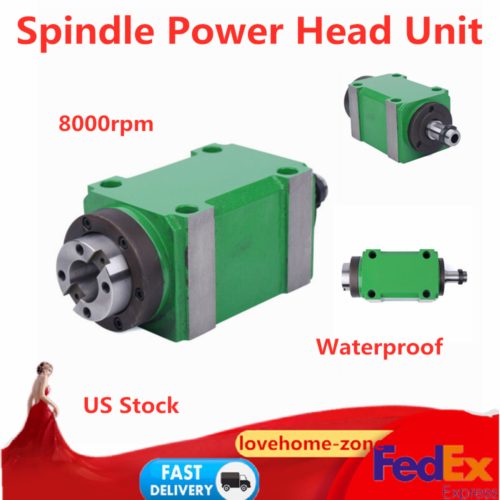 BT30 Spindle Unit 2HP 8000rpm Power Head for CNC Milling Mac