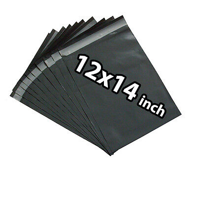 12x14 300X Grey Mailing Bags Strong Poly Postal Postage Post Mail Self Seal UKED
