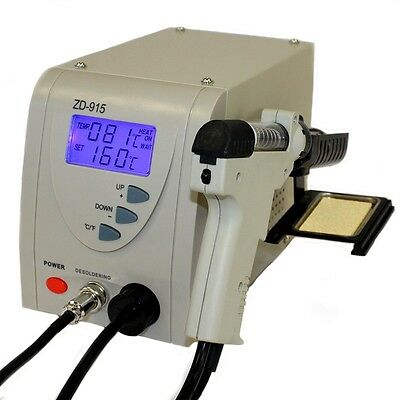 Regelbare digitale Entlötstation ZD-915ESD Entlötkolben Entlötpumpe Vakuumpumpe