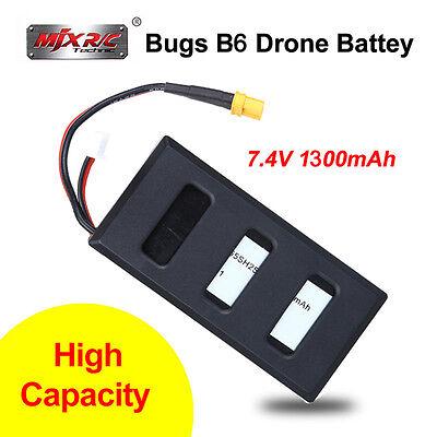 MJX Bugs B6 7,4 V 1300 mAh 25C Lipo Batterie Akku Hohe Kapazität für RC Drohne