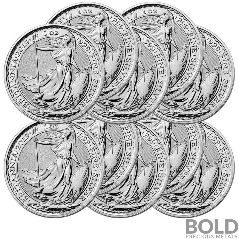 2019 Silver Great Britain Britannia - 1 oz (10 Coins)