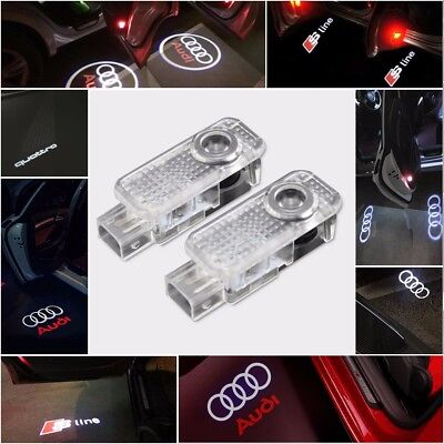 Car Parts - AUDI CREE LED Projector Car Door Lights Shadow Puddle Courtesy Laser LOGO Light