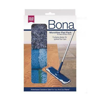 BONA® 3 PIECE MICROFIBER PAD PACK AX0003496 CLEANING, DUSTING & DEEP CLEAN (Bona Microfiber Cleaning Pad)
