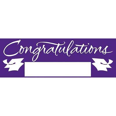 Purple Giant Party Banner 5' Graduation School Spirit - Congratulations Banner