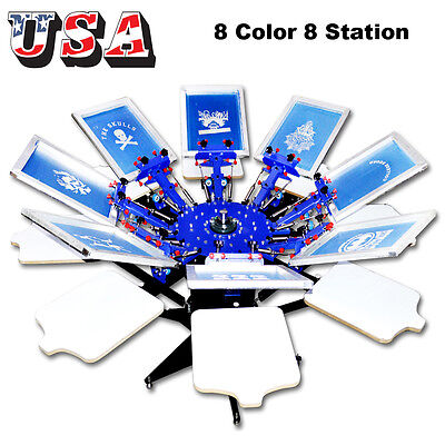 8 Color Screen Printing Machine Silk Screen Shirt Press Diy Equipment All-in-one