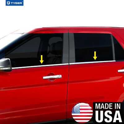 Chrome Accessories Window Sill Trim Fit 02-06 Cadillac Escalade EXT 4P