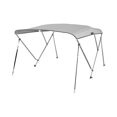 3 Bow Bimini Boat Top Cover with storage boot, Color Lt. gray, w/support poles 3 Bow Bimini Top Storage
