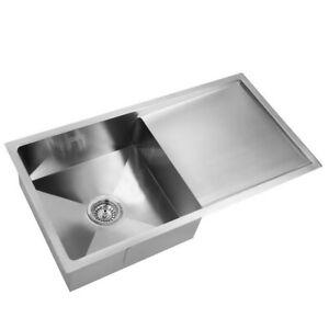 Single Bowl Stainless Steel Sink 870 x 440mm - SHSINK-8745-R010