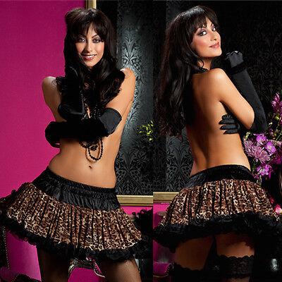 Plus Size Lingerie One Size Queen Halloween Leopard Petticoat  STM10250X](Stm Halloween)