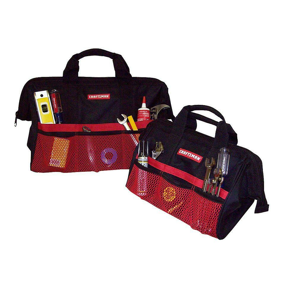 """Brand New CRAFTSMAN 13"""" & 18"""" Tool Bag Combo For Hand Power"""