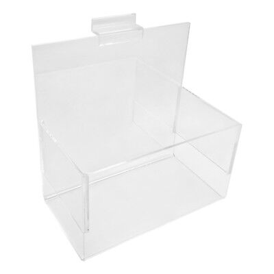 7 X 4 X 7 Single Clear Acrylic Lucite Hosiery Bin Holder Slatwall Display