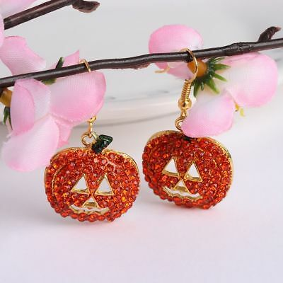Face Halloween Pumpkin Shape Christmas Gifts For Women Jewelry Dangle Earrings - Pumpkin Faces For Halloween