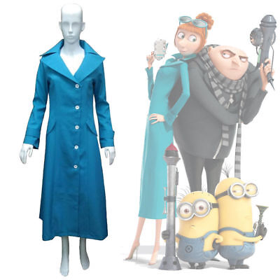 Despicable Me 3 Lucy Wilde Cosplay Costume Coat Jacket Halloween Party