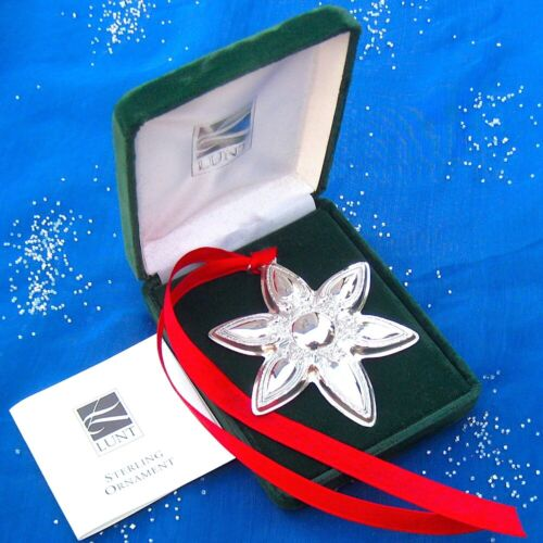RARE • NEW • LUNT 2001 ANNUAL STAR Sterling Silver Christmas Ornament / Pendant