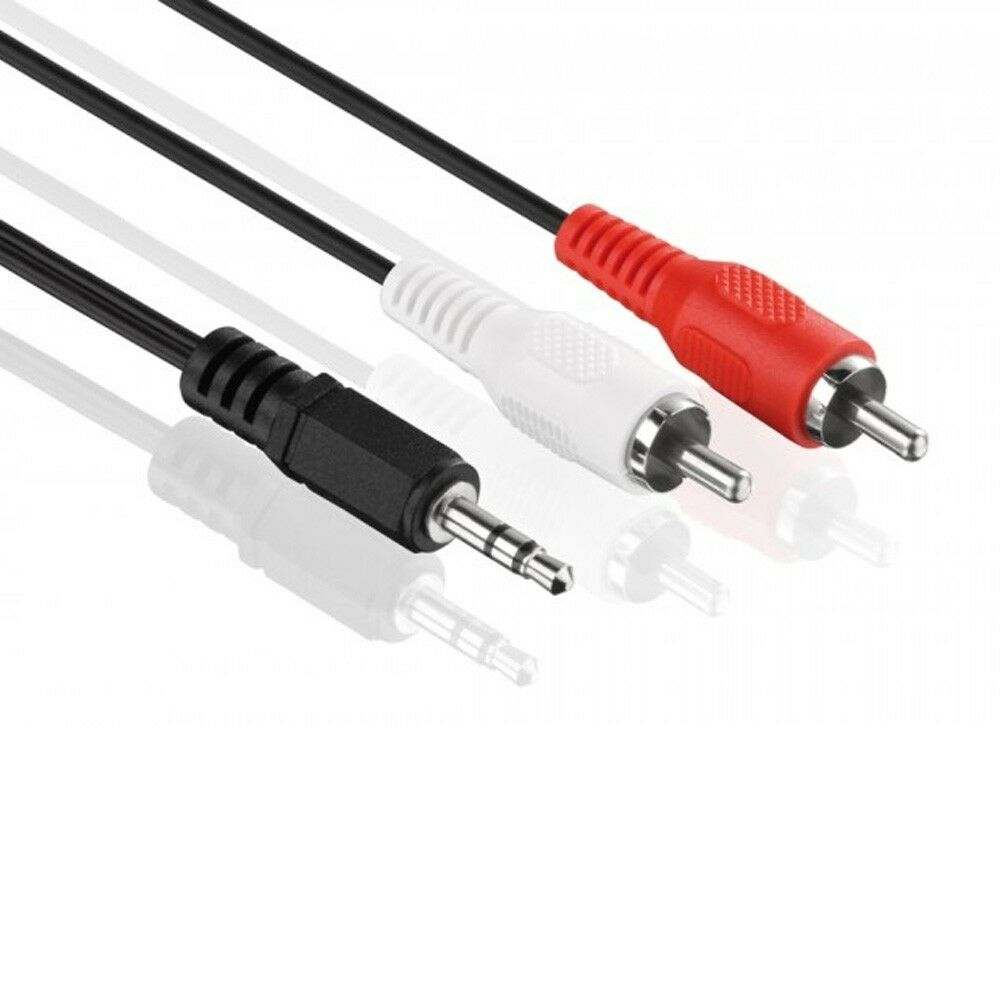 Audio Kabel - 3,5mm Klinke auf 2x Cinch - RCA zu Jack, Chinch zu AUX Klinke 1,5m