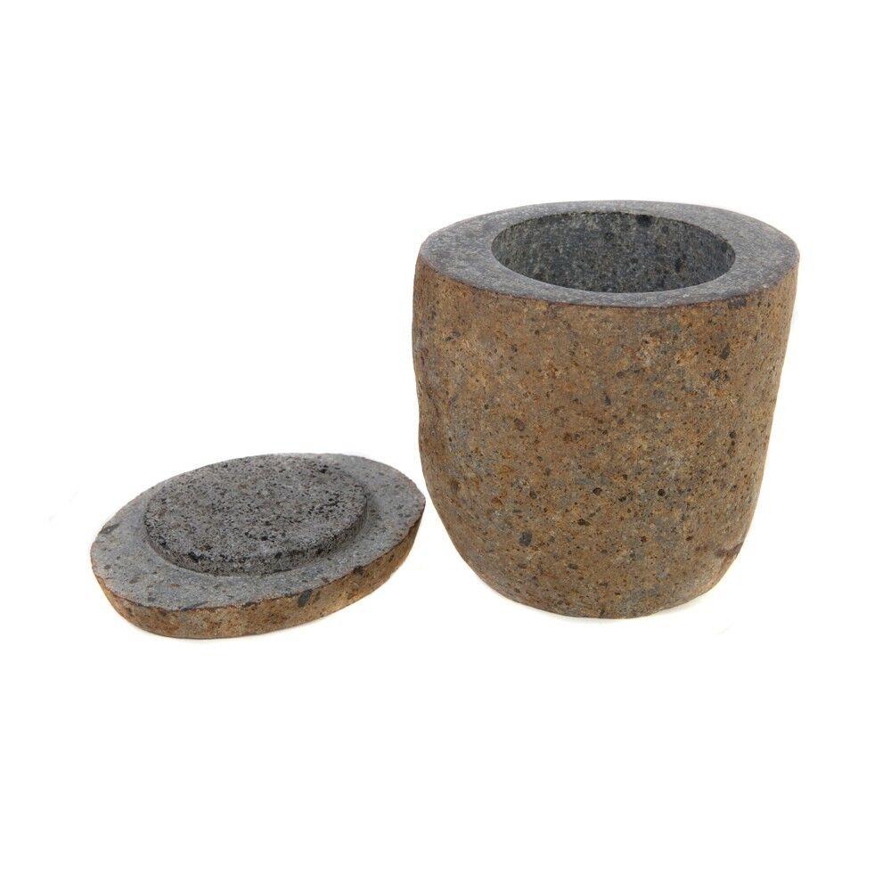 wohnfreuden Flussstein Dose 12 cm Aufbewahrung Box Behälter Naturstein Stein