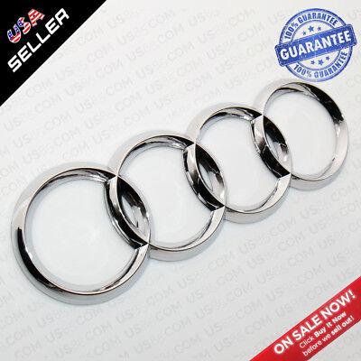 AUDI OEM Chrome Liftgate Trunk Logo Rings Badge Emblem Decoration A3 A4 S4 RS4