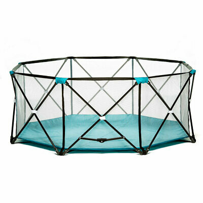 Regalo 8 Panel Foldable Mesh Childrens Play Yard & Carrying Bag, Teal (Open Box)