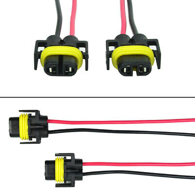 Alla Lighting H11 Socket Female Adapter Wiring Harness Pigtail Plug -