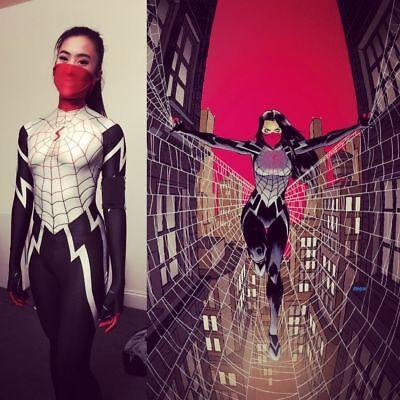 NEW Lady Silk Spiderman With Mask Cindy Moon - Lady Spiderman Kostüm