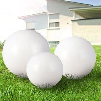 3er-Set LED Solarleuchte Kugel Garten Beleuchtung Weiß Außen Lampe Nacht Licht