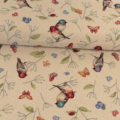Gobelin Stoff Vögelchen Taschen Vorhänge Dekoration