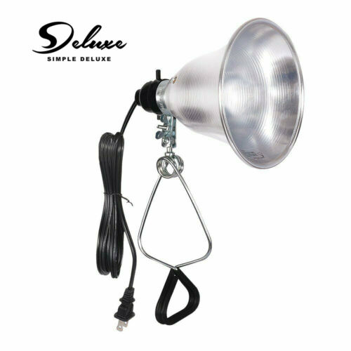 Simple Deluxe Clamp Lamp Light with 5.5-Inch Aluminum Reflec