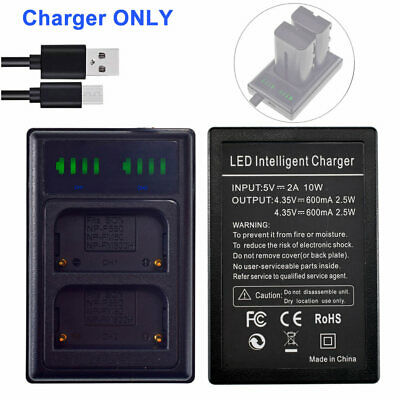 Slim Batetry Charger for SONY Alpha SLT-A57 SLT-A65 SLT-A77 SLT-A99 NP-FM500H