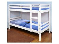 🎆💖🎆FREE & FAST DELIVERY🎆💖🎆 SINGLE-WOODEN BUNK BED FRAME w OPT MATTRESS