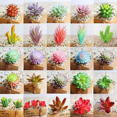 Artificial Mini Plastic Miniature Succulents Green Plants Art Garden Home Decor