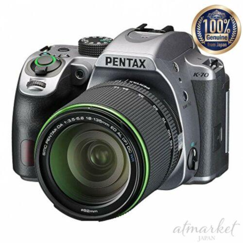 Pentax K-70 18-135mmWR Objektiv Set Silber Digital Spiegelreflex Kamera 16996