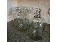 5 x Demijohn for home-brew wine