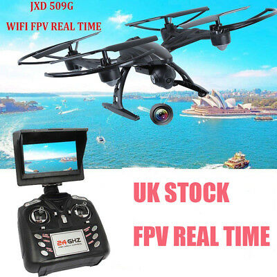 JXD 509G 5.8G RC Quadcopter Drones HD Camera Wifi FPV Altitude Hold + Monitor UK