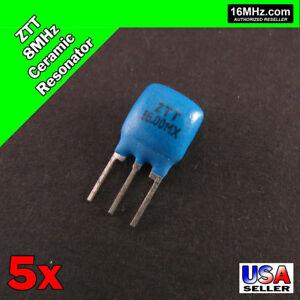 5x CERAMIC RESONATOR 16.00MHz 16.0MHz 16MHz 3 PIN ZTT Series Ocillator 5pcs T10
