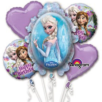 Frozen Character Authentic Licensed Good Quality Foil / Mylar Balloon Bouquet
