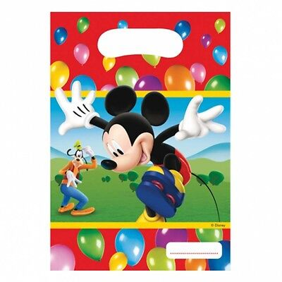 6 Disney Mickey Mouse Balloons Clubhouse Birthday Party Loot Favor Treat Bags - Mickey Treat Bags